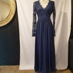 Lulus Awaken my Love Navy blue dress